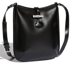Longchamp leather Roseau crossbody